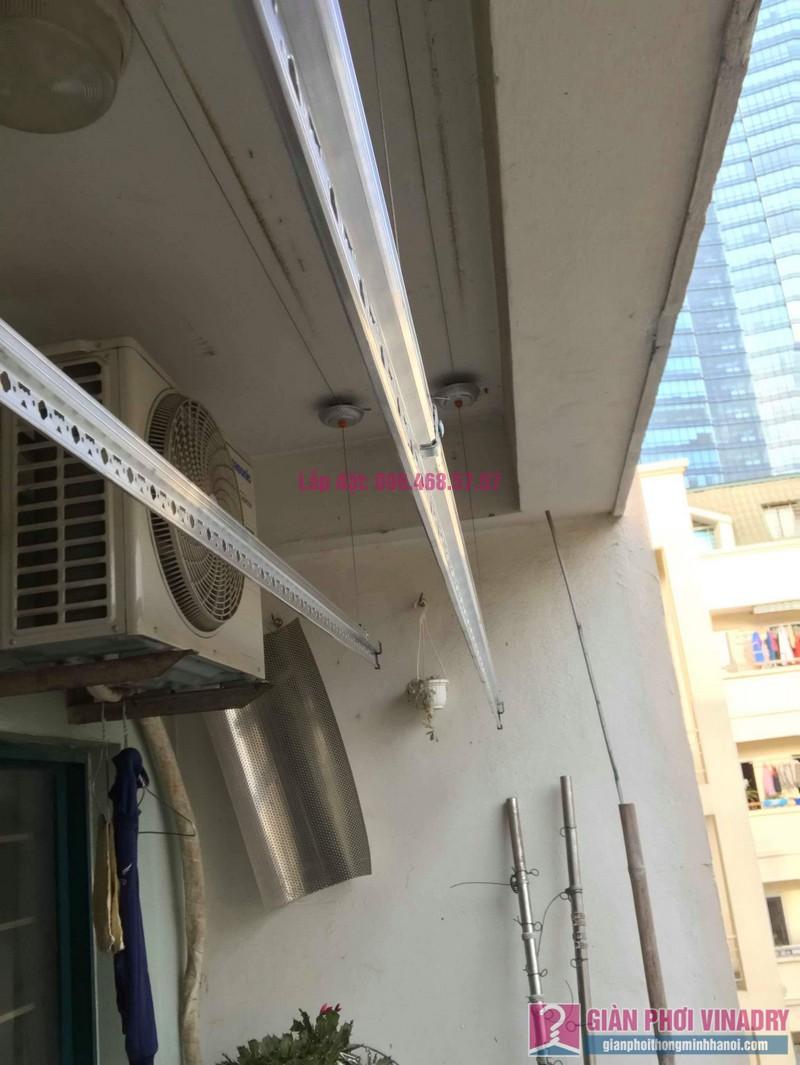 Lắp giàn phơi Hòa Phát 999B nhà chị Nhiên, chung cư CT3 - 1 Mễ trì hạ, Nam Từ Liêm, Hà Nội - 08