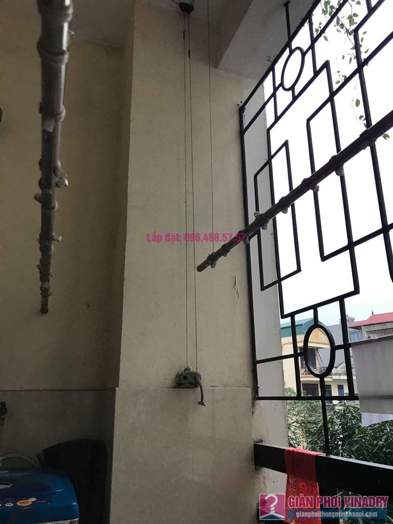 Sửa giàn phơi Ba Sao nhà chị Ngoan chung cư 699 Trương Định, Hoàng Mai, Hà Nội - 01