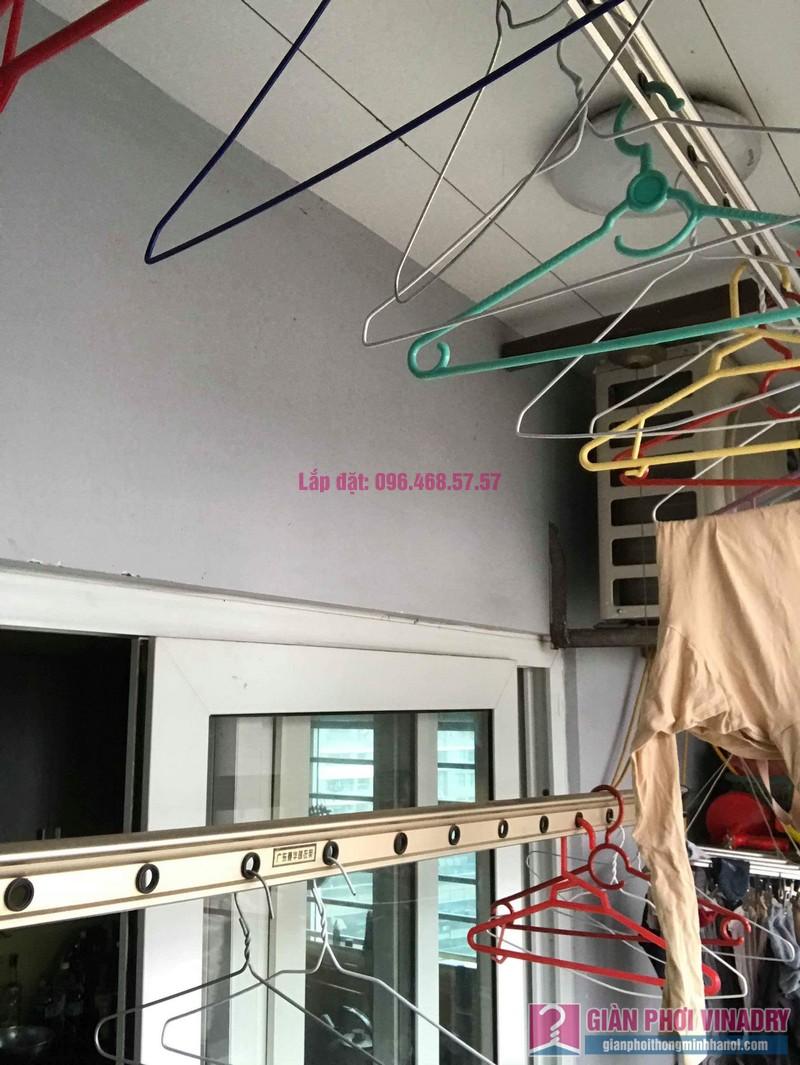 Sửa giàn phơi thông minh nhập khẩu nhà chị Hằng, chung cư Cienco1, Thanh Xuân, Hà Nội - 02