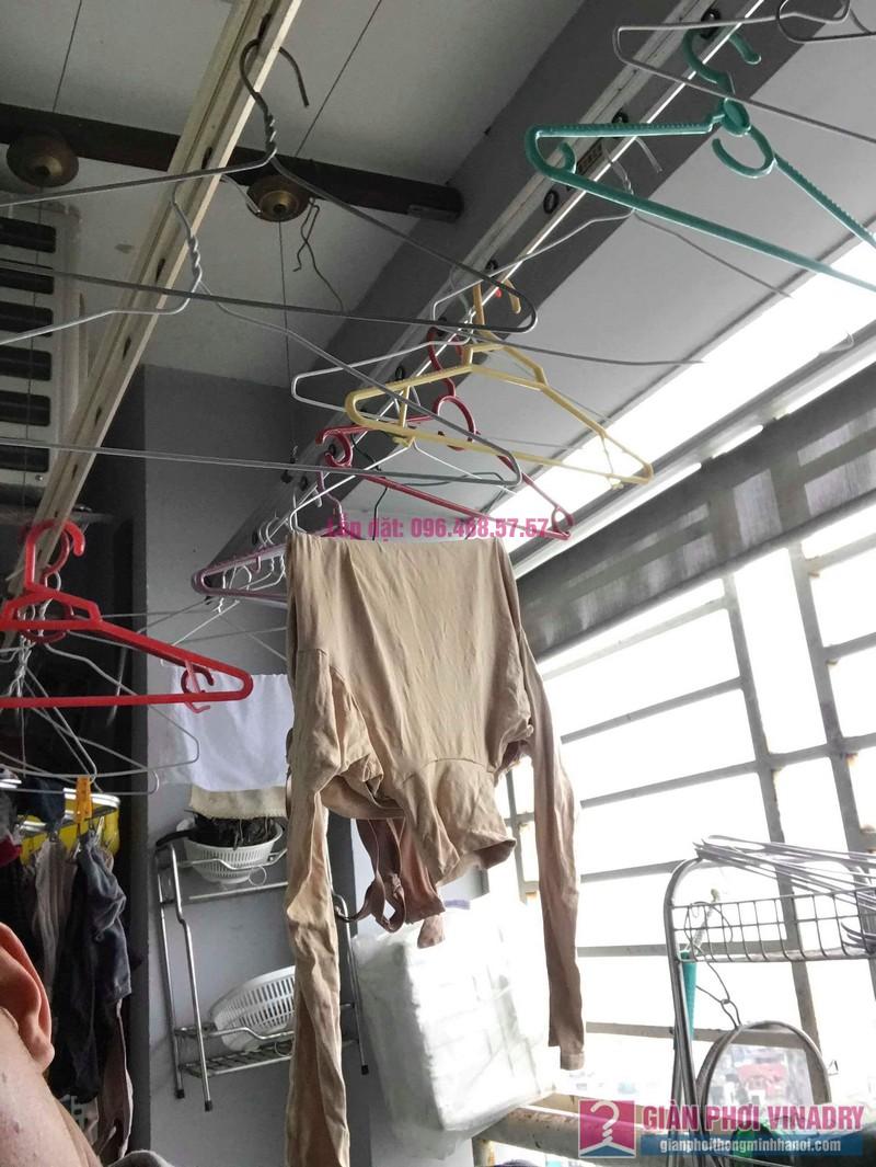 Sửa giàn phơi thông minh nhập khẩu nhà chị Hằng, chung cư Cienco1, Thanh Xuân, Hà Nội - 06