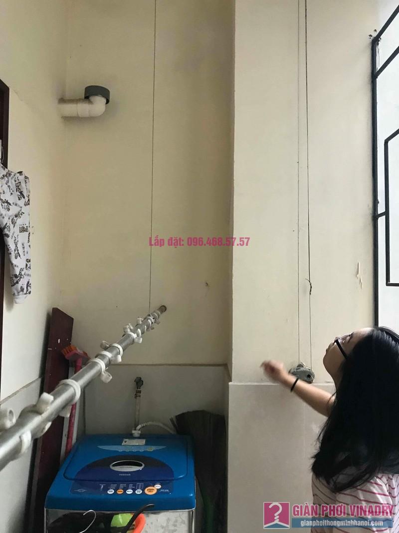 Sửa giàn phơi Ba Sao nhà chị Ngoan chung cư 699 Trương Định, Hoàng Mai, Hà Nội - 06