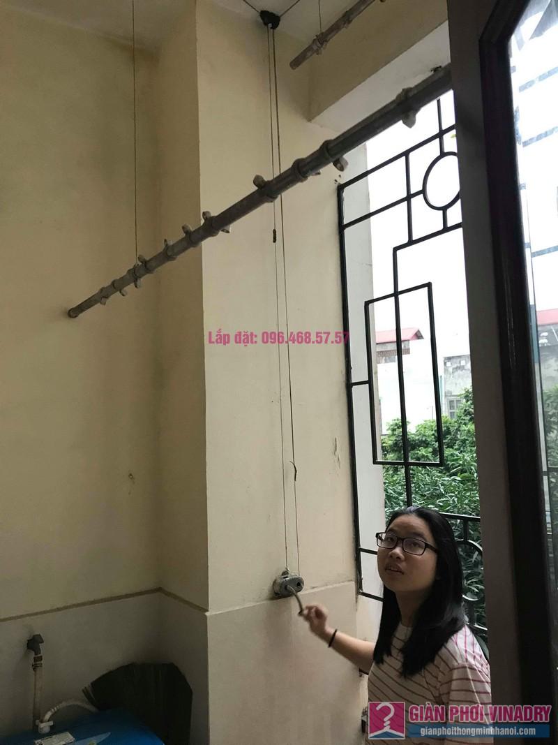 Sửa giàn phơi Ba Sao nhà chị Ngoan chung cư 699 Trương Định, Hoàng Mai, Hà Nội - 08