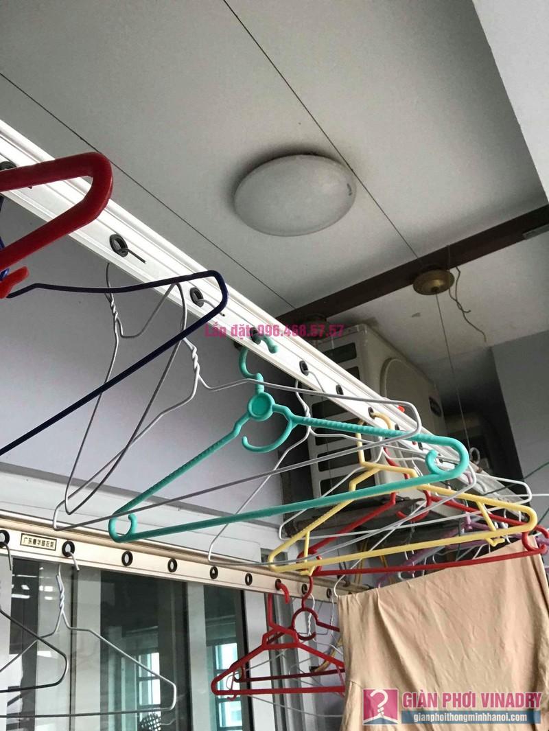 Sửa giàn phơi thông minh nhập khẩu nhà chị Hằng, chung cư Cienco1, Thanh Xuân, Hà Nội - 09