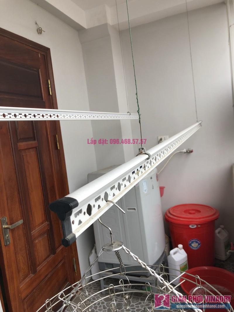 Thay bộ tời giàn phơi 999B nhà chị Toan, Ngõ 113 Yên Hòa, Cầu Giấy - 02
