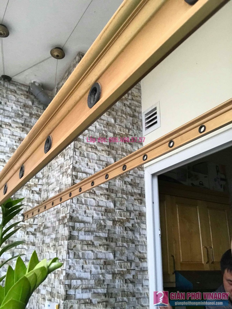 Sửa giàn phơi nhà chị Hiên, chung cư Nam Đô Complex, Hoàng Mai, Hà Nội - 02