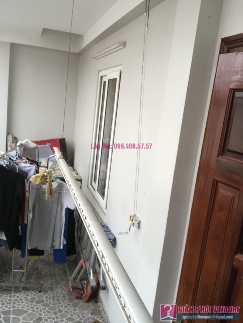Thay bộ tời giàn phơi 999B nhà chị Toan, Ngõ 113 Yên Hòa, Cầu Giấy - 04