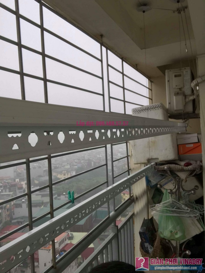 Lắp giàn phơi Hoàng Mai nhà anh Tùng, tòa A3 chung cư 151A nguyễn đức cảnh - 06