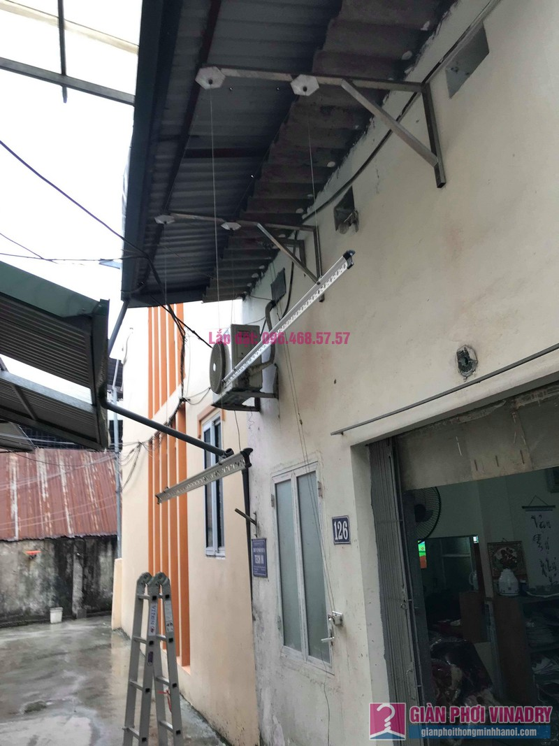 Sửa giàn phơi quần áo nhà cô Hạnh, ngõ 116, đường 70, P. kiến Hưng, Hà Đông - 07