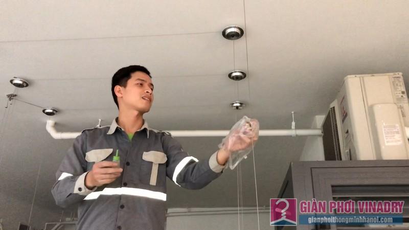 Lắp giàn phơi nhà anh Tài, chung cư Imperia Garden, 203 Nguyễn Huy Tưởng - 05