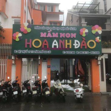 Lắp lưới an toàn ban công và lưới an toàn cầu thang trường mầm non Hoa Anh Đào, Bắc Từ Liêm, Hà Nội