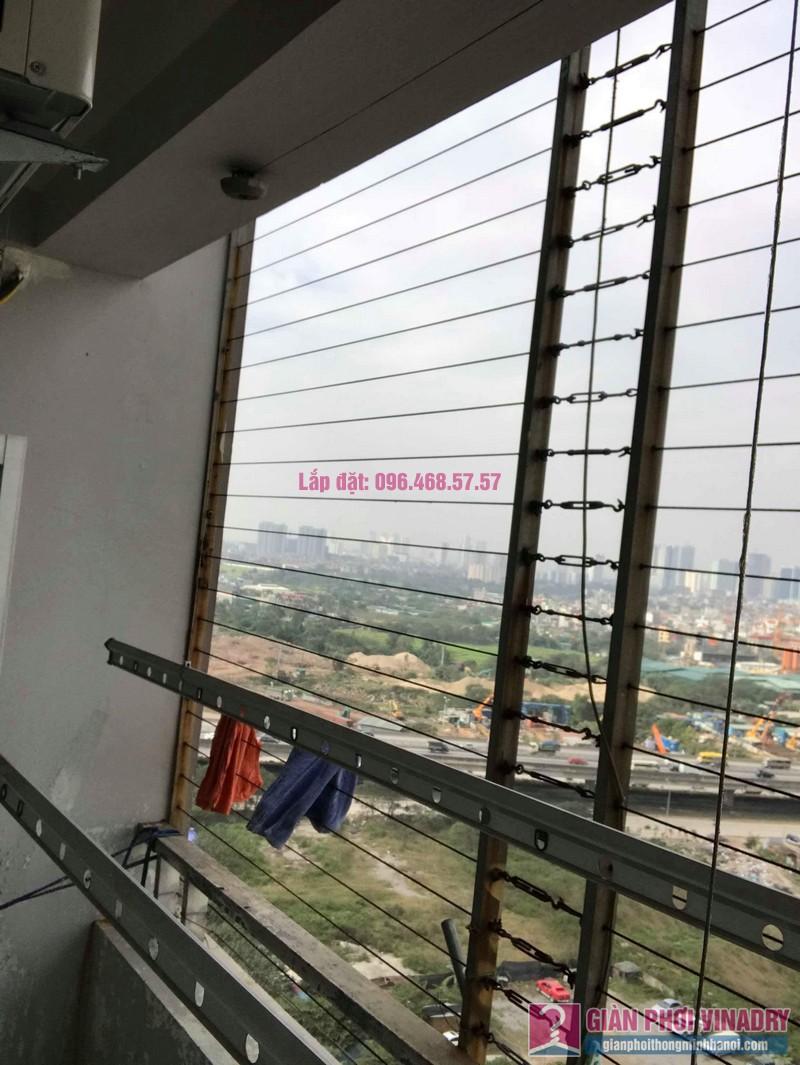 Sửa dàn phơi thông minh nhà chị Thắm, chung cư Five Star Kim Giang, Thanh Xuân, Hà Nội - 02
