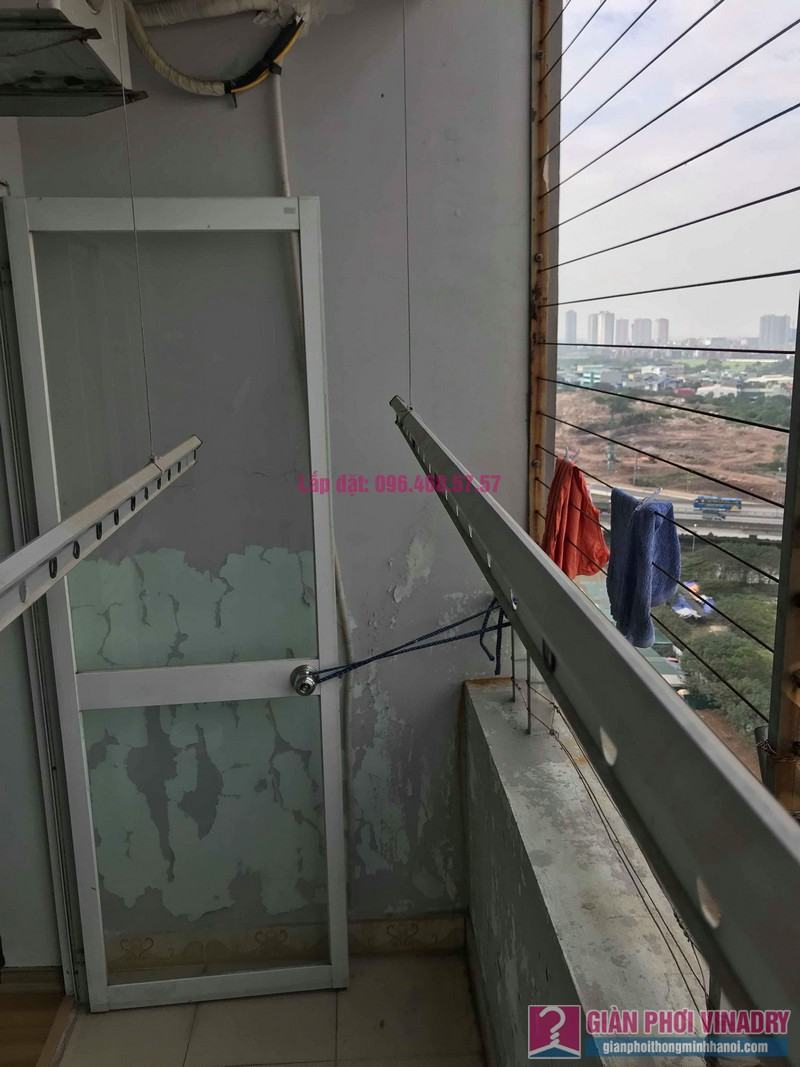 Sửa dàn phơi thông minh nhà chị Thắm, chung cư Five Star Kim Giang, Thanh Xuân, Hà Nội - 04