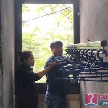 Lắp giàn phơi quần áo nhà chị Đào, Long Liên, Hà Nội