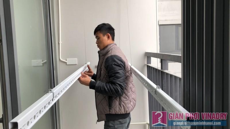 Lắp giàn phơi Hoà Phát Air nhà anh Vinh, chung cư Goldsilk Complex Hà Đông, Hà Nội - 01