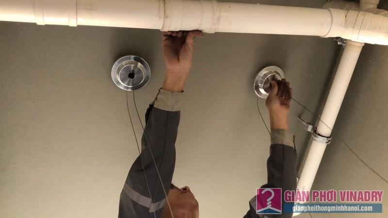 Lắp giàn phơi Hà Đông tại nhà chị Nhung, chung cư Season1 Avenu Mỗ Lao - 02