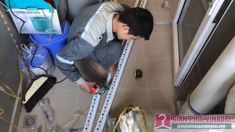 Lắp giàn phơi Hà Đông tại nhà chị Nhung, chung cư Season1 Avenu Mỗ Lao - 05