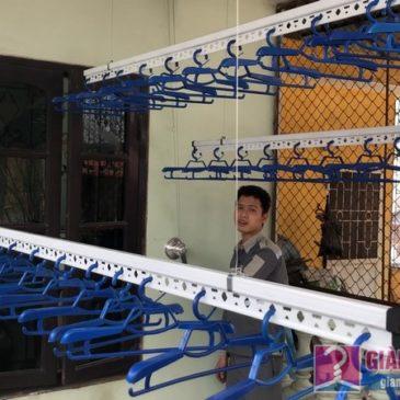 Lắp bộ đôi giàn phơi Hòa Phát Air nhà anh Cường, ngõ 291, Khương Trung, Hai Bà Trưng, Hà Nội