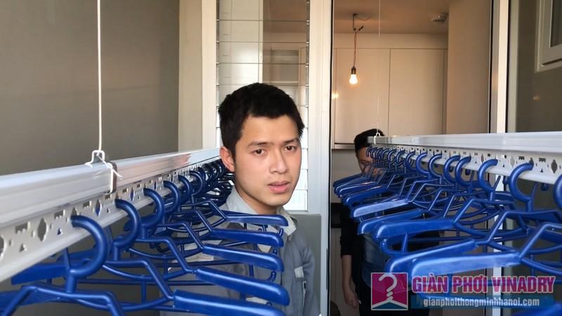 Sự sang trọng của giàn phơi thông minh lắp đặt cho nhà chị Nhung