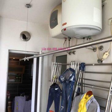 Sửa giàn phơi Ba Sao nhà chị Hạnh, chung cư E5, Ciputra Tây Hồ, Hà Nội