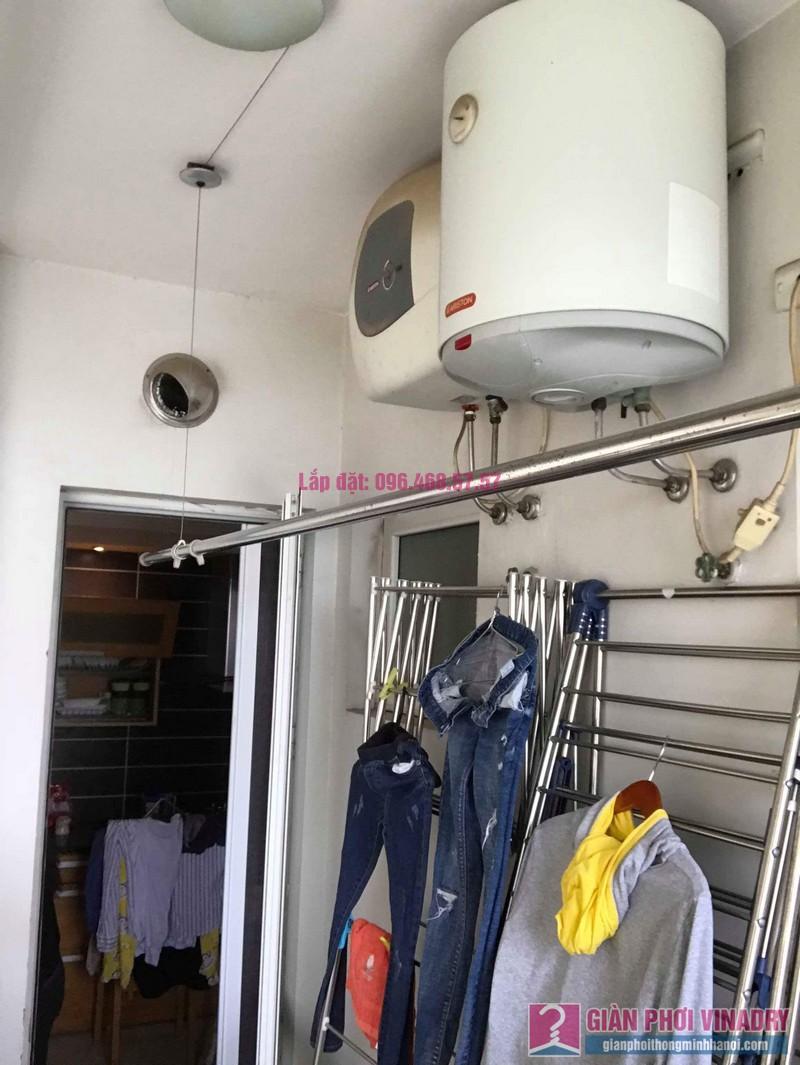Sửa giàn phơi Ba Sao nhà chị Hạnh, chung cư E5, Ciputra Tây Hồ, Hà Nội - 01