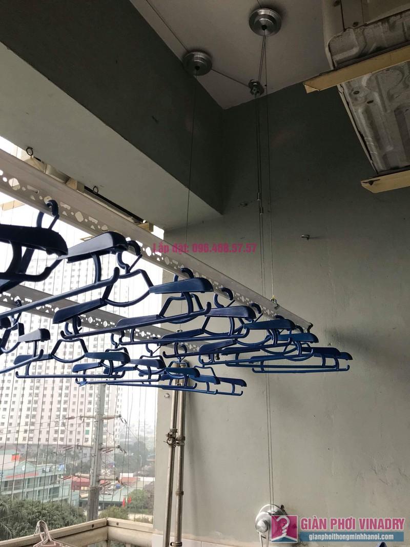Lắp giàn phơi Hà Đông nhà chị Nhung, Chung cư CT2, KĐT Xala - 02