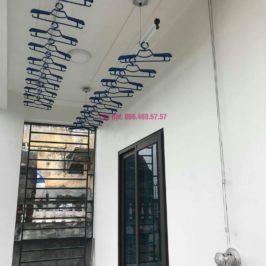 Lắp giàn phơi Hòa Phát Air nhà chị Ánh, Phúc Đồng, Long Biên, Hà Nội