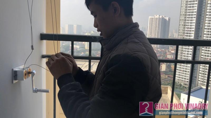 Lắp giàn phơi quần áo tại Hoàng Mai nhà chị Huyền, chung cư New Horizon City, 87 Lĩnh Nam - 01