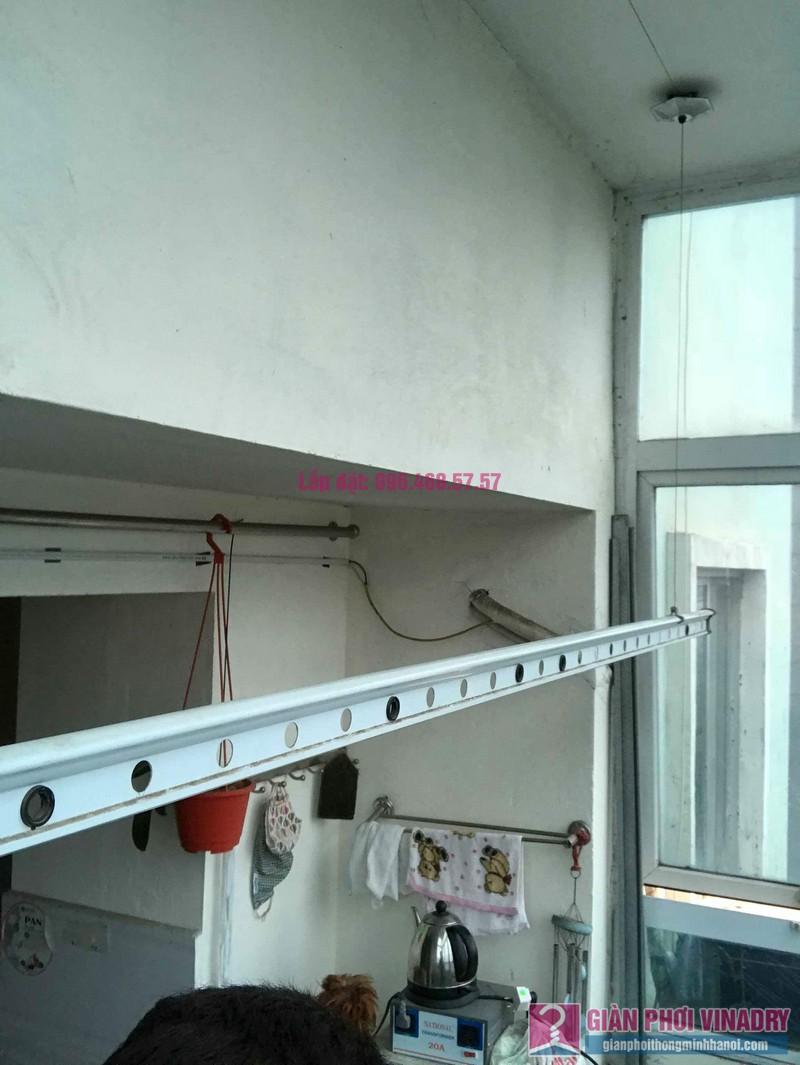 Sửa giàn phơi đồ thông minh nhà chị Nga, chung cư N4A Trung Hòa Nhân Chính, Cầu Giấy, Hà Nội - 01