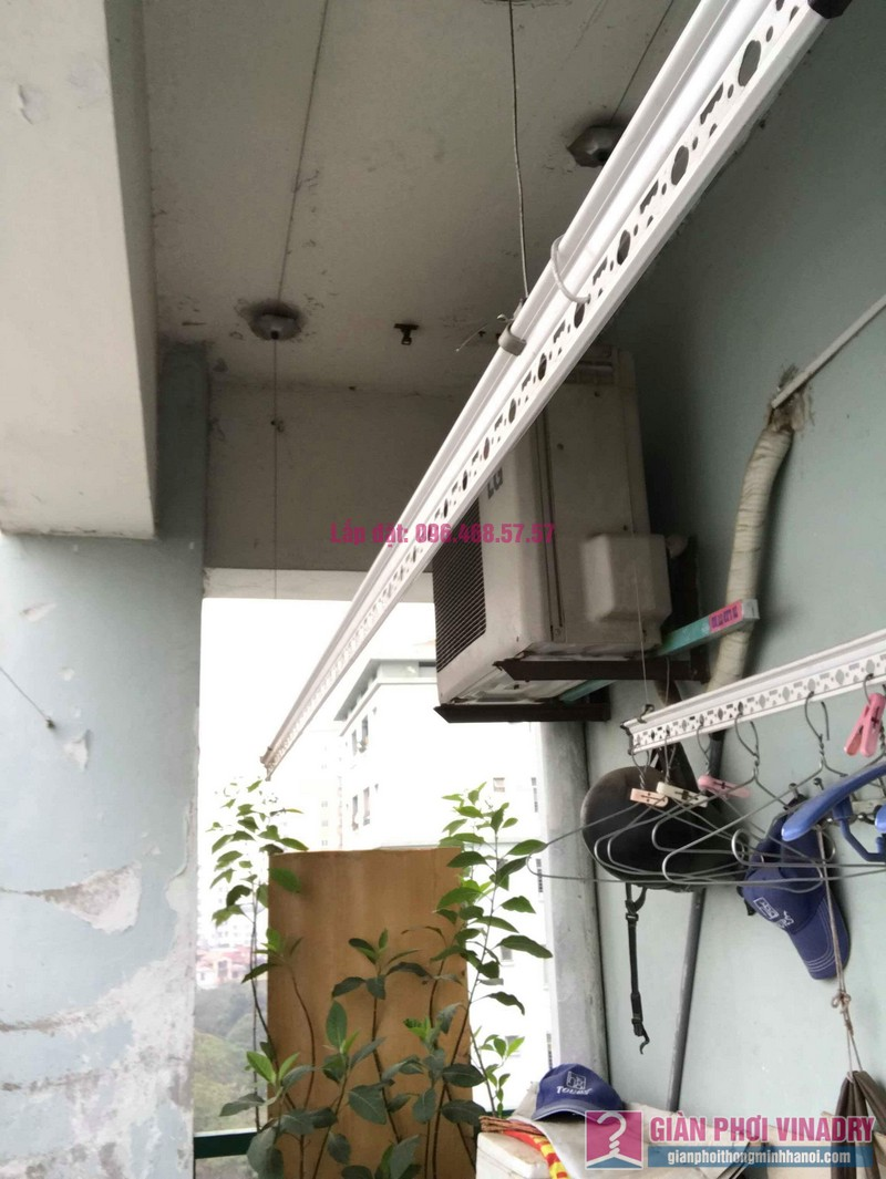 Sửa giàn phơi thông minh 999B nhà chú Cường, chung cư CT3A - X2 Bắc Linh Đàm - 02