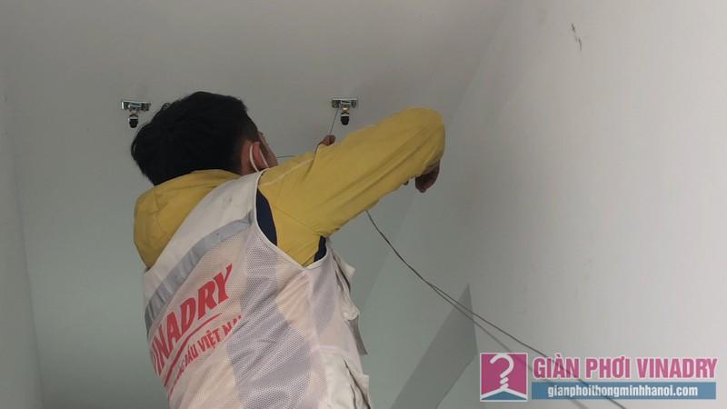 Lắp giàn phơi nhà anh Tâm, chung cư Xuân Mai Conplex, Hà Đông, Hà Nội - 01