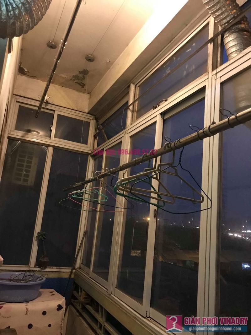 Sửa giàn phơi thông minh Lâm Anh, nhà chị Thắm, chung cư Đồng Tàu, Hoàng Mai, Hà Nội - 04
