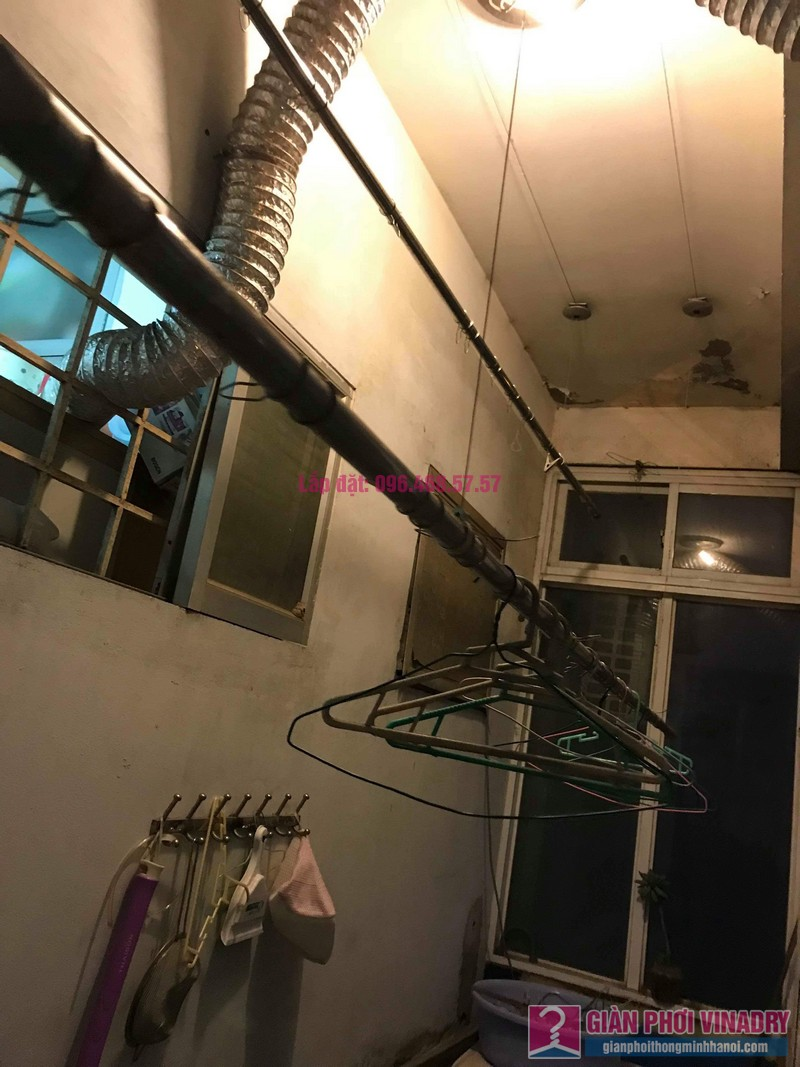 Sửa giàn phơi thông minh Lâm Anh, nhà chị Thắm, chung cư Đồng Tàu, Hoàng Mai, Hà Nội - 05