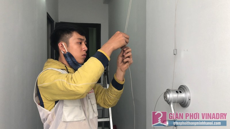 Lắp giàn phơi nhà anh Tâm, chung cư Xuân Mai Conplex, Hà Đông, Hà Nội - 05