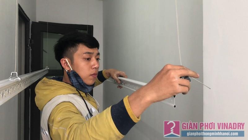 Lắp giàn phơi nhà anh Tâm, chung cư Xuân Mai Conplex, Hà Đông, Hà Nội - 06