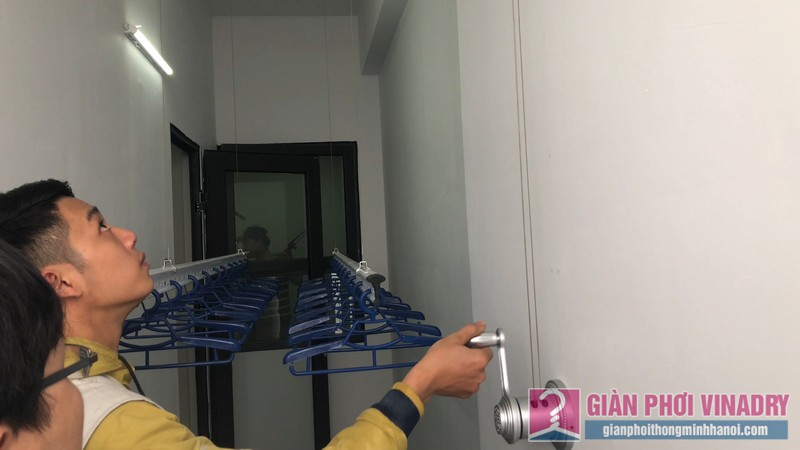 Lắp giàn phơi nhà anh Tâm, chung cư Xuân Mai Conplex, Hà Đông, Hà Nội - 10