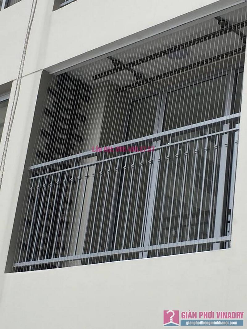Lắp lưới an toàn ban công nhà chị Yến, chung cư Victoria Văn Phú, Hà Đông, Hà Nội - 01
