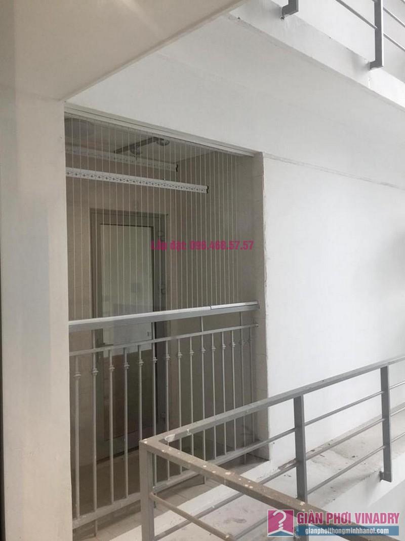 Lắp lưới an toàn ban công nhà chị Yến, chung cư Victoria Văn Phú, Hà Đông, Hà Nội - 02