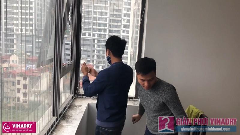 Lắp lưới an toàn ban công nhà chị Hiền, chung cư Golden West, số 2 Lê Văn Thiêm, Thanh Xuân, Hà nội - 08