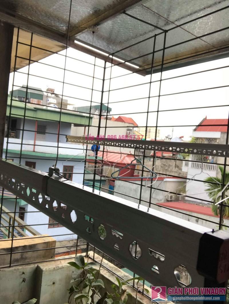 Lắp giàn phơi trần mái tôn nhà chị Bích, ngõ 64 Vĩnh Hưng, Hoàng Mai, Hà Nội - 04