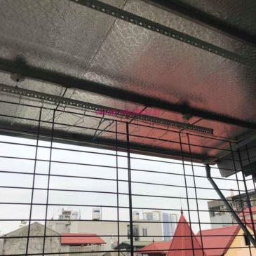 Lắp giàn phơi trần mái tôn nhà chị Bích, ngõ 64 Vĩnh Hưng, Hoàng Mai, Hà Nội
