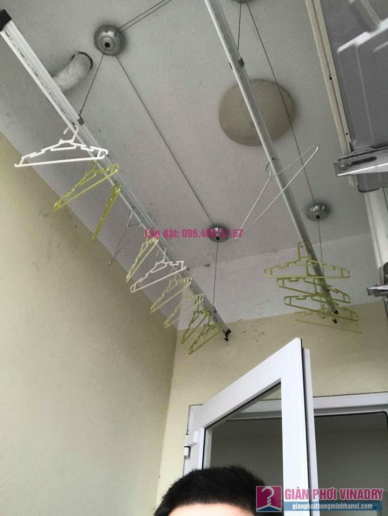 Thay dây cáp giàn phơi thông minh nhà anh Thiêm, chung cư CT1 Trung Văn, Vinaconex 3 - 01