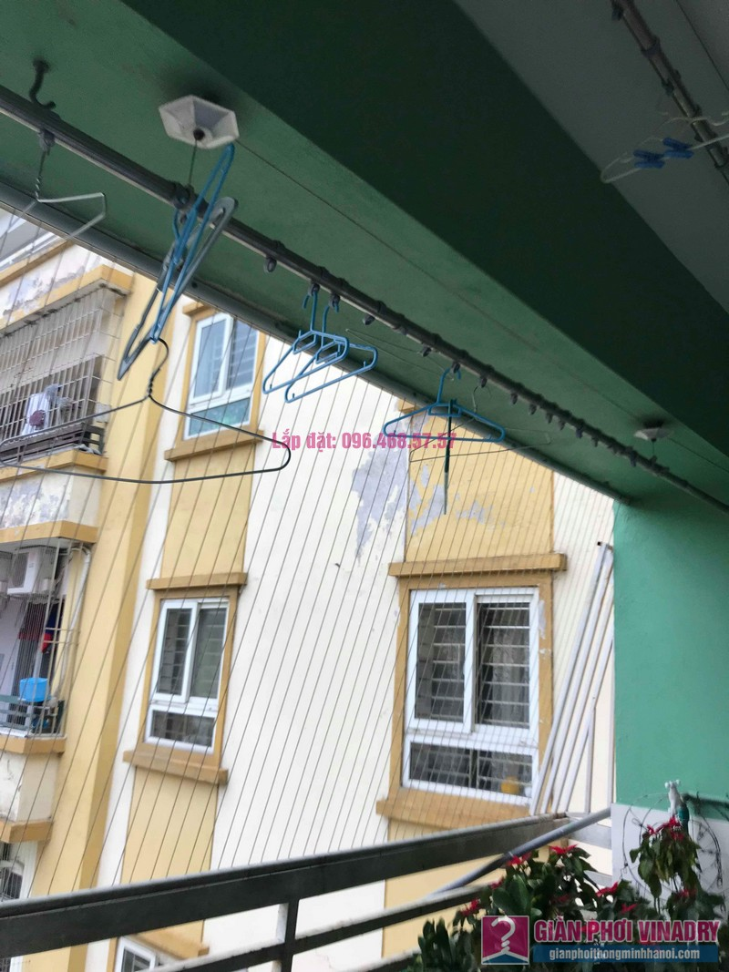 Sửa giàn phơi quần áo giá rẻ nhà chị Nhi, chung cư CT5, KĐT Mễ Trì Thượng, Nam Từ Liêm, Hà Nội- 02