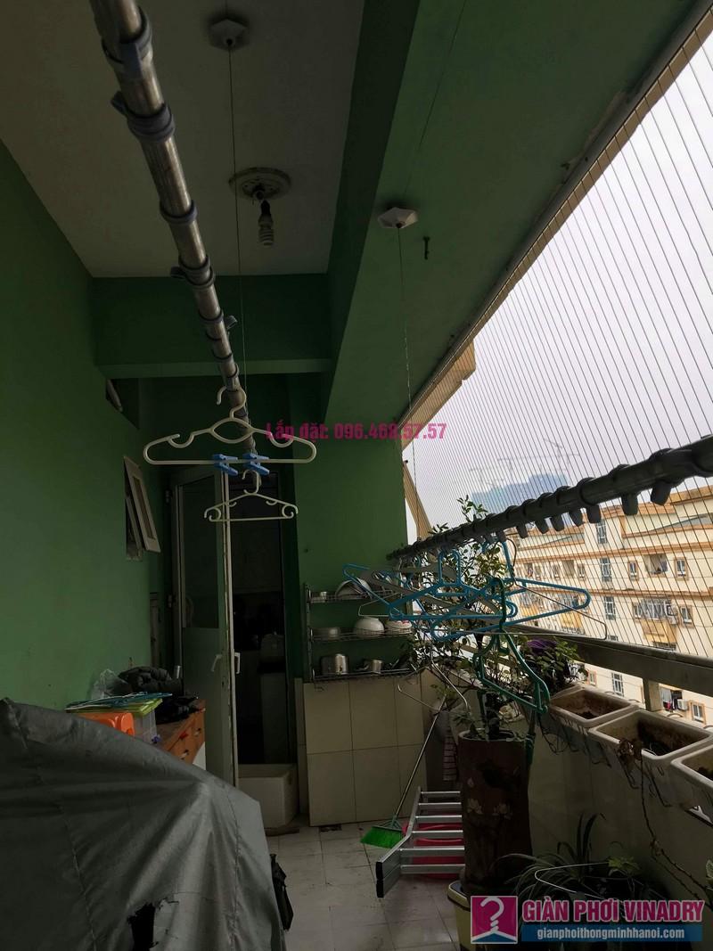 Sửa giàn phơi quần áo giá rẻ nhà chị Nhi, chung cư CT5, KĐT Mễ Trì Thượng, Nam Từ Liêm, Hà Nội- 03