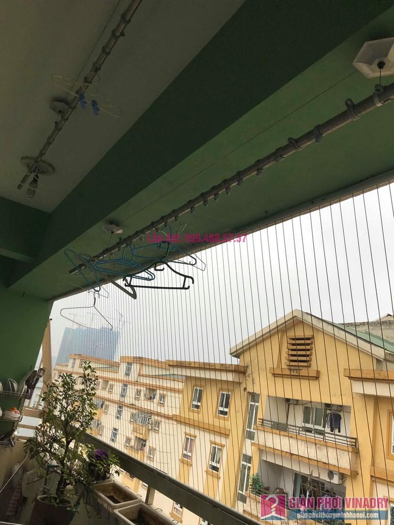 Sửa giàn phơi quần áo giá rẻ nhà chị Nhi, chung cư CT5, KĐT Mễ Trì Thượng, Nam Từ Liêm, Hà Nội- 04