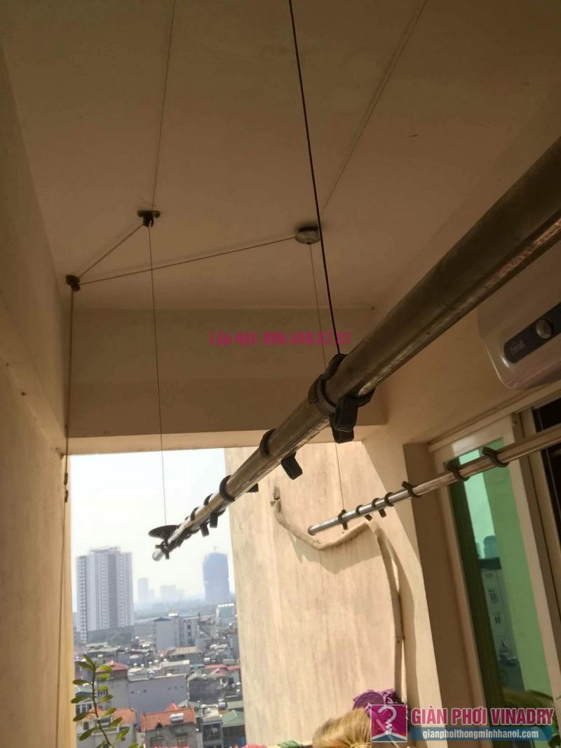 Sửa giàn phơi thông minh nhà anh Nam, chung cư 789 Bộ Quốc Phòng, Nam Từ Liêm, Hà Nội - 05