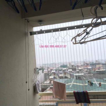 Thay hộp quay giàn phơi Hòa Phát 999B nhà chị Đào, chung cư 8B Đại Thanh, Thanh Trì, Hà Nội