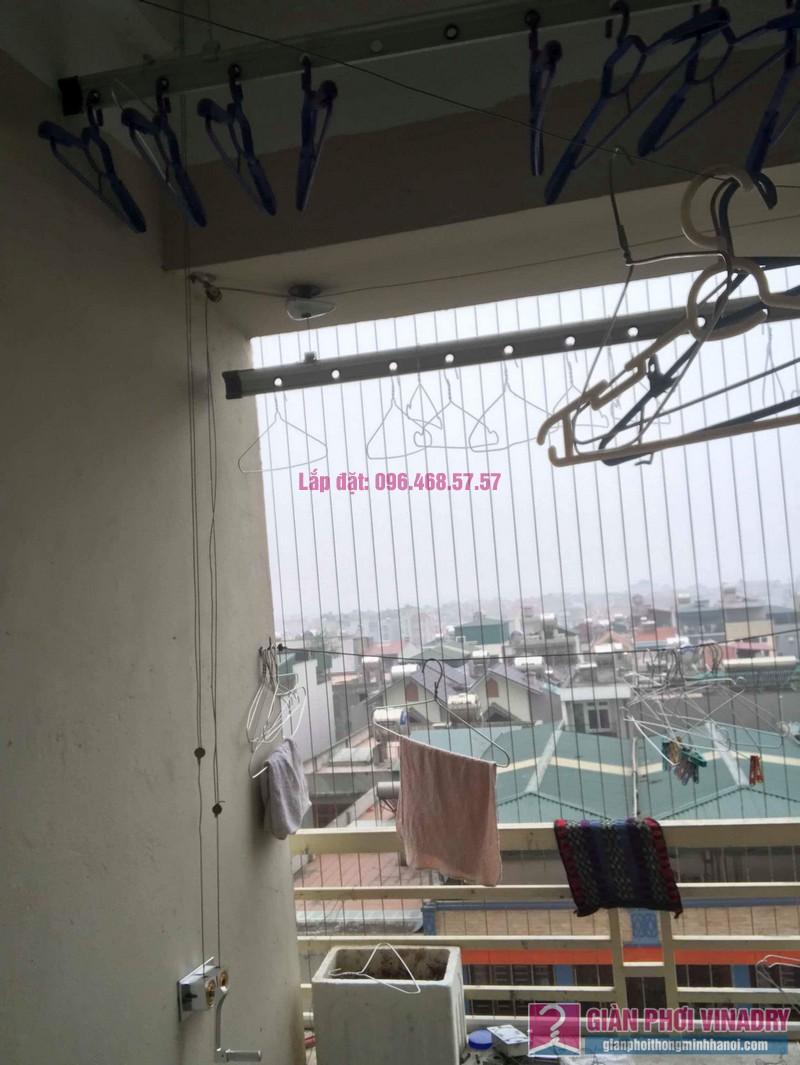 Thay hộp quay giàn phơi Hòa Phát 999B nhà chị Đào, chung cư 8B Đại Thanh, Thanh Trì, Hà Nội - 07