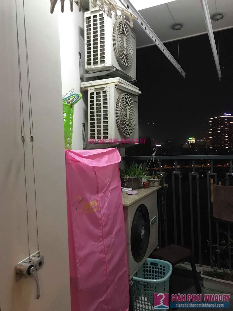 Thay dây cáp giàn phơi thông minh nhà chị Hải, chung cư Platinum Residences, Ba Đình, Hà Nội - 02