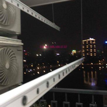 Thay dây cáp giàn phơi thông minh nhà chị Hải, chung cư Platinum Residences, Ba Đình, Hà Nội