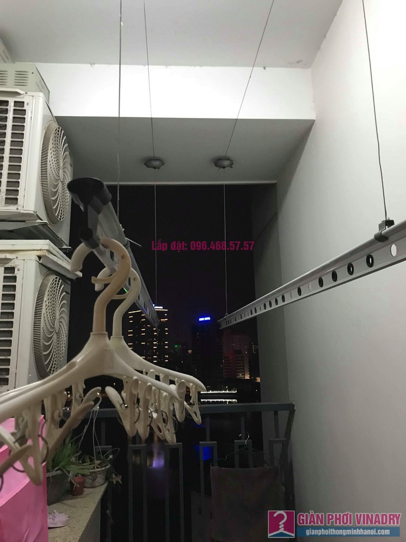 Thay dây cáp giàn phơi thông minh nhà chị Hải, chung cư Platinum Residences, Ba Đình, Hà Nội - 06